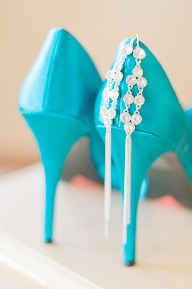Lovely Turquoise wedding heels. #wedding #bride #shoes