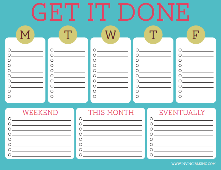 1000+ images about To Do Lists (Get Organized!) on Pinterest ...