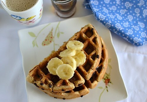 Almond Butter & Choco. Chip Waffles1
