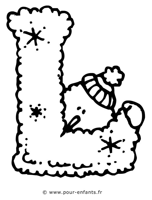 Les Lettres De Lalphabet La Lettre L Dessin à Imprimer Pour Az