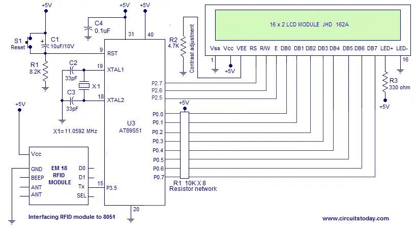 RFID Based Door Lock using 8051