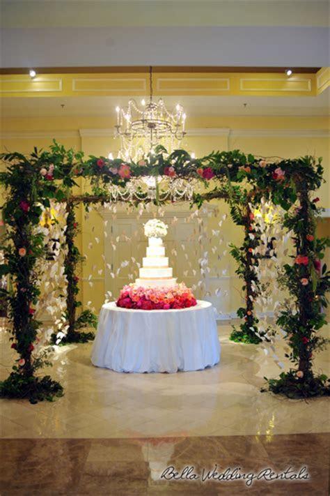 A wedding rental company, specializing in wedding rentals