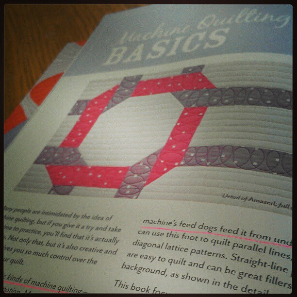Prepping to teach from my book tonight! :) #quilt #machinequilting #beginnersguidetofreemotionquilting