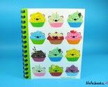 Cupcake Bears - Small 4 x 5 Blank Notebook   Cupcake Bears - Small 4 x 5 Blank Notebook