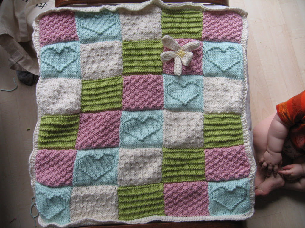 Textured Blocks Baby Blanket