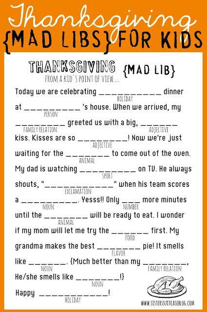 Free Thanksgiving Printables for Kids | JellibeanJournals.com