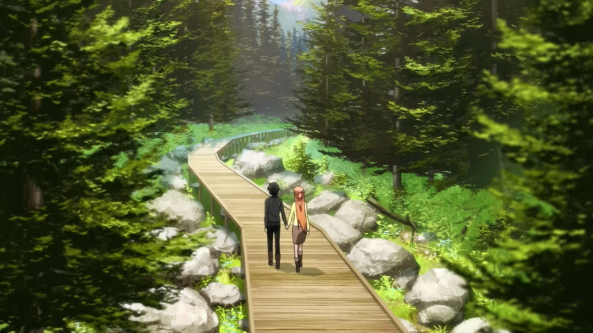 Image result for asuna and yui at the forest