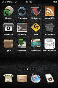 buuf2_leather iPhone Theme