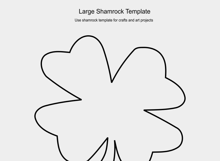 Printable Shamrock Template Classles Democracy