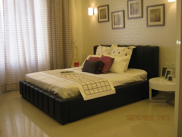 Bedroom  - Show flat of Pittie Kourtyard, 2 BHK & 3 BHK Flats at  Kharadi, Pune 411 014