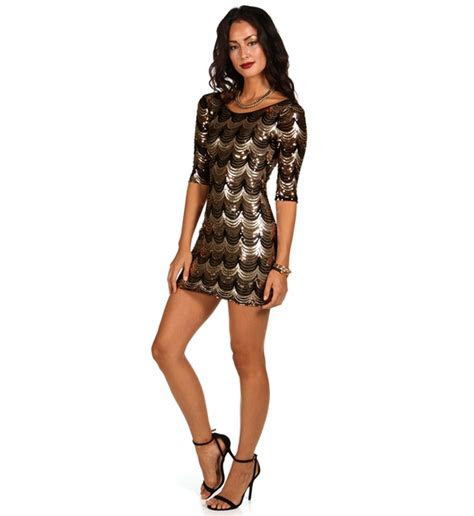 Sequin Black And Gold Dress ? Oscar Fashion Review
