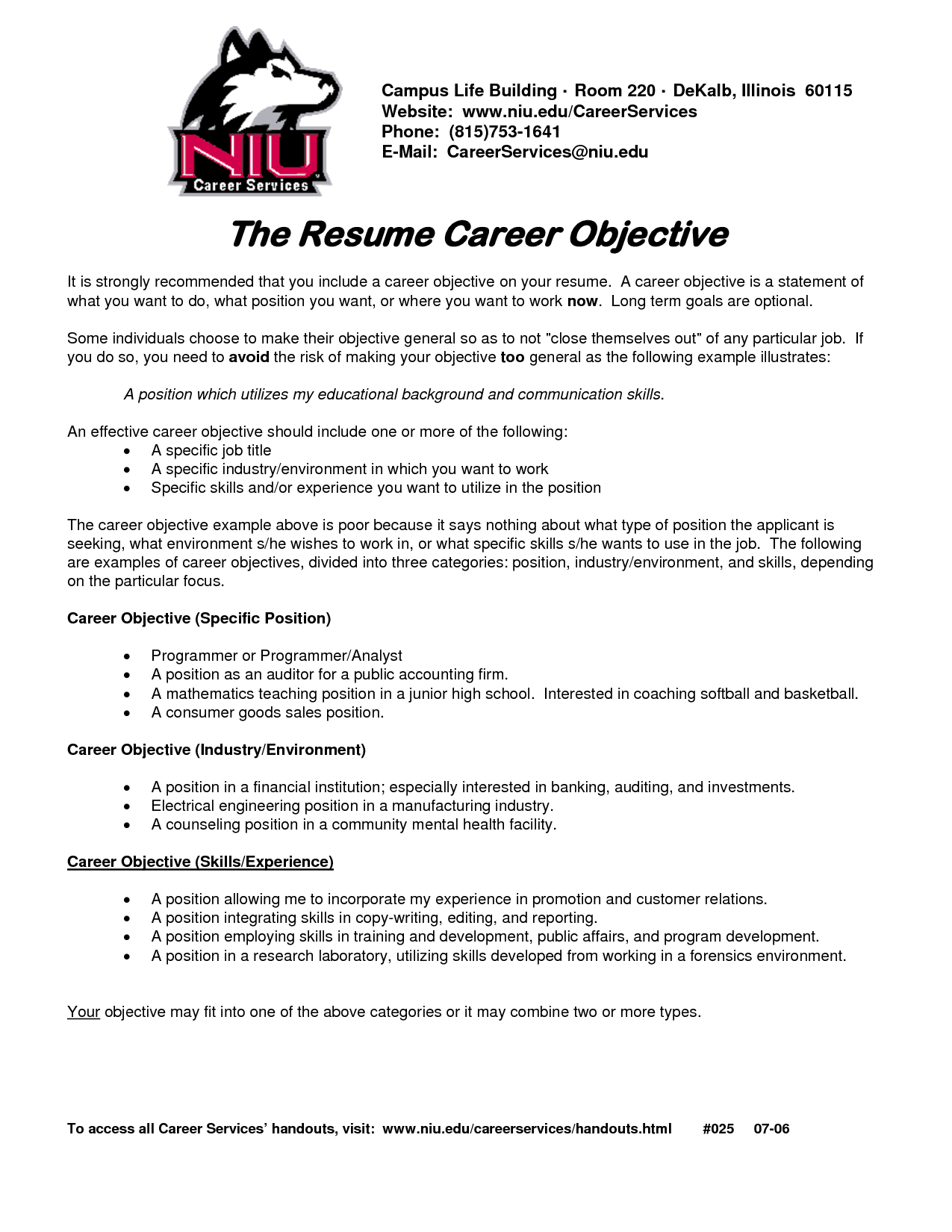 25 Fresh Resume Objective Examples For Any Job Best Resume Examples