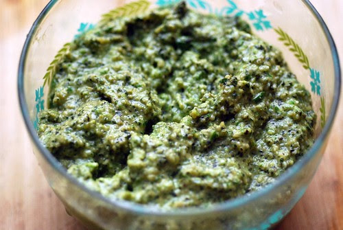 Basil-Garlic Scape pesto