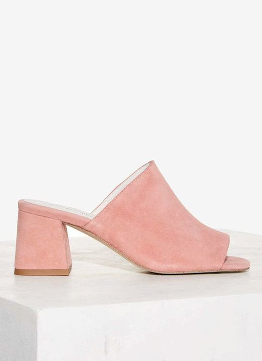 Le Fashion Blog Pink Suede Mules Via Nasty Gal