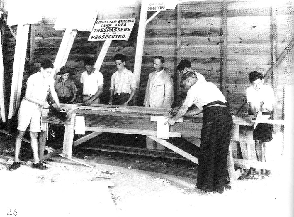 File:Gibraltar Evacuee Camp, Jamaica - Cabinet Making and ...