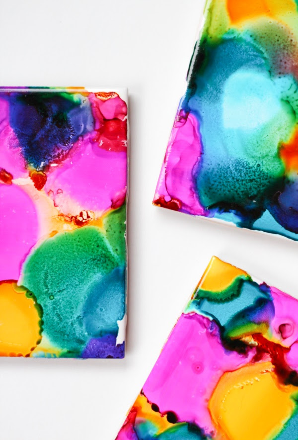 Original Alcohol Ink On Glass Examples6