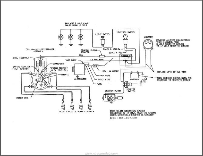 8n Ford Tractor Wiring Diagram 6 Volt - Atkinsjewelry