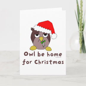 Owl Be Home card