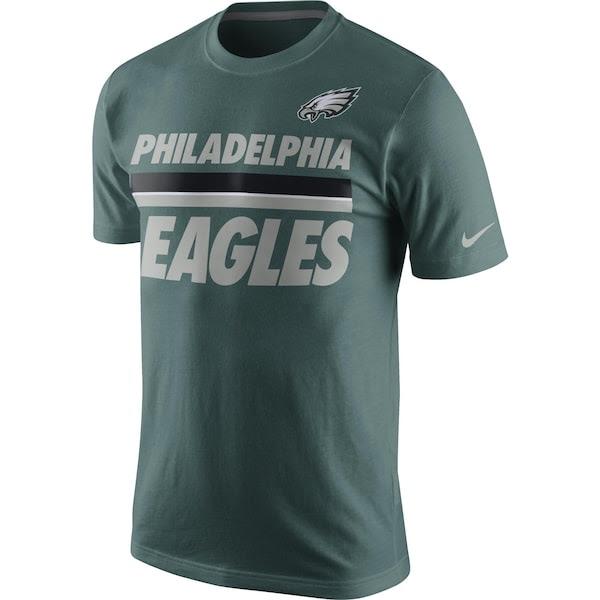 Philadelphia Eagles Nike Team Stripe TShirt  Green  Fanatics.com