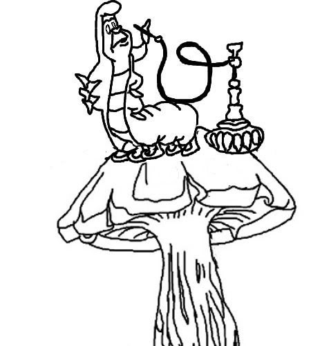 Coloring And Drawing: Trippy Creepy Alice In Wonderland Coloring Pages