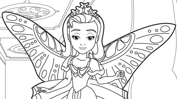 Dibujo De Princesa Amber Hermana Sofia Para Colorear Y Sketch