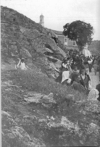 Romería del Valle hacia 1920. Fotografía de D. Pedro Román Martínez