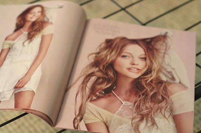 Sasha Pivovarova April 2011 Free People Catalog, Fashion model