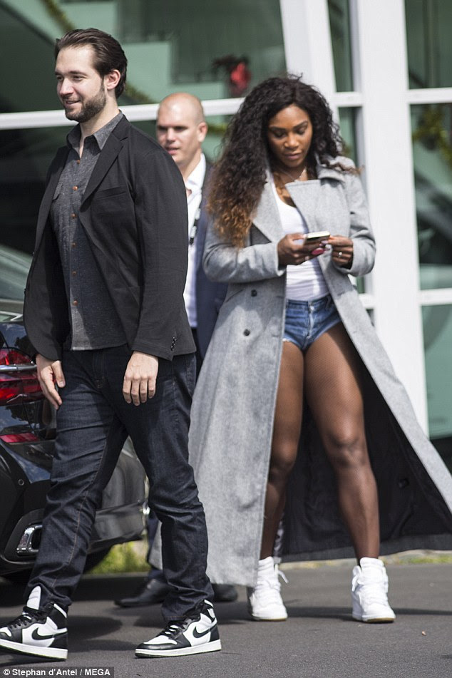 Loved-up: Serena Williams, 35, stepped out in style with her new fiance Alexis Ohanian as they welcomed 2017 in Auckland, New Zealand