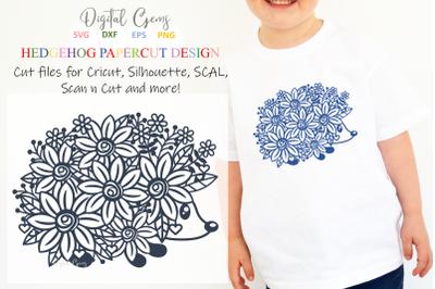 Download Hedgehog Paper Cut Design Free