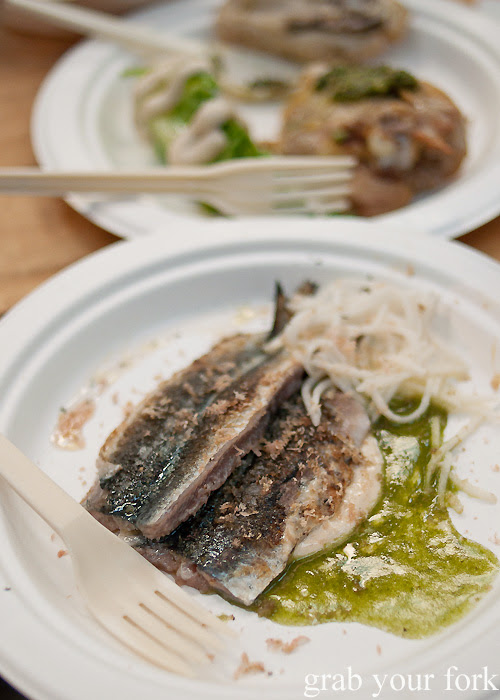 Sardine with smoked mussel aioli at the Rootstock Sydney 2014 Night Festival