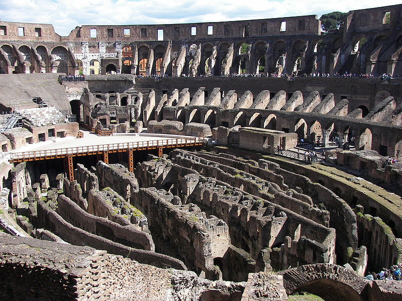 File:Rome Colosseum interior.jpg