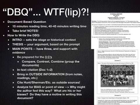how to write a dbq essay sheet
