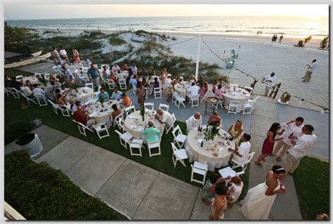 Outdoor beach wedding reception for 100 guests at Cay