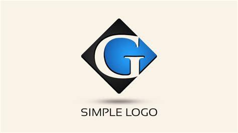simple logo design  photoshop letter  youtube