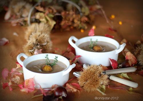 minestra di castagne