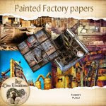 Painted factory papers