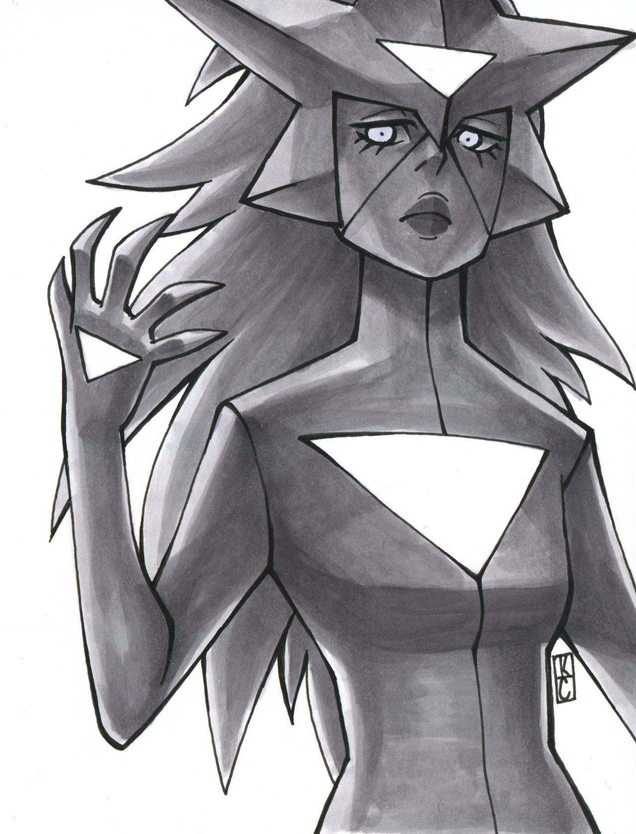 Unknowable Geometry III ——– White Diamond and her hypno-eyes.