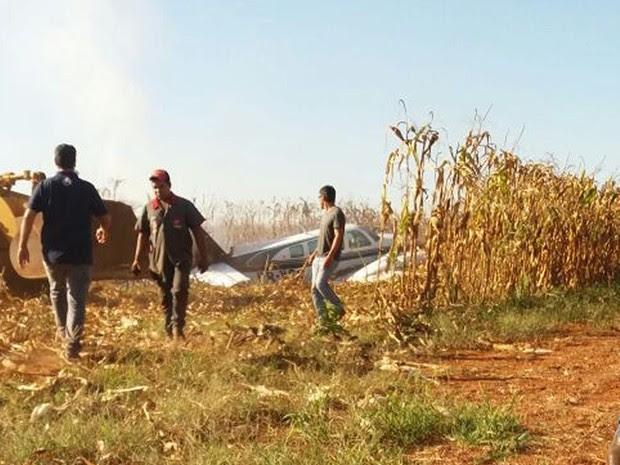 Avião com 5 pessoas fez pouso em São José do Xingu e pegou fogo após bater em cerca (Foto: Arquivo pessoal)
