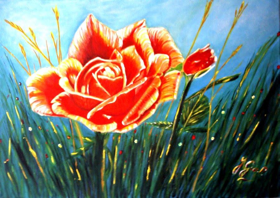 Rose Sauvage Toiles Tableaux Original Sur Toile Toutes Ses