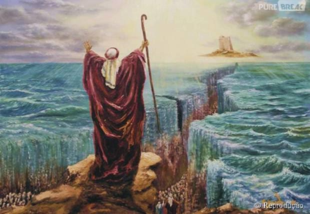 Resultado de imagem para abrir o mar vermelho