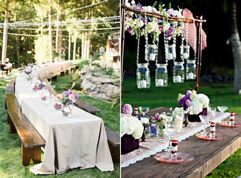 How to Decorate Outdoor Wedding: Original Ideas for