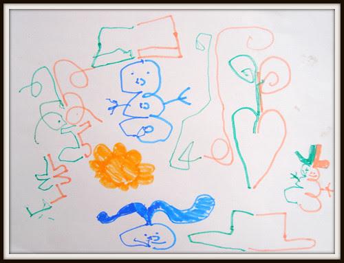 double doodle framed