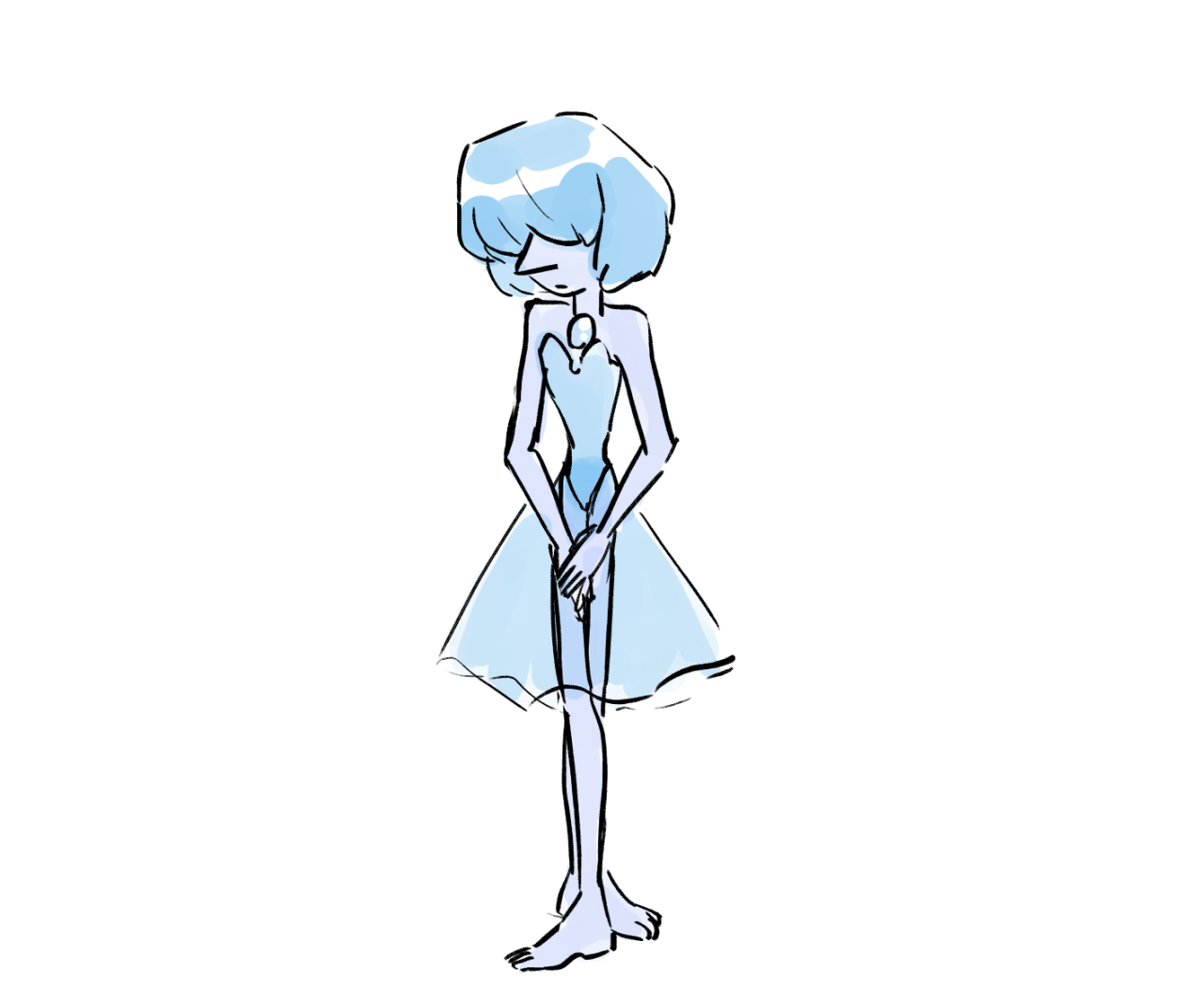 a blue pearl for someone in the stream