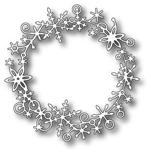 Memory Box Die  FROSTYVILLE WREATH
