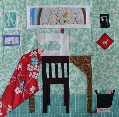 A Quiet Play Sewing Room - Paper Pieced