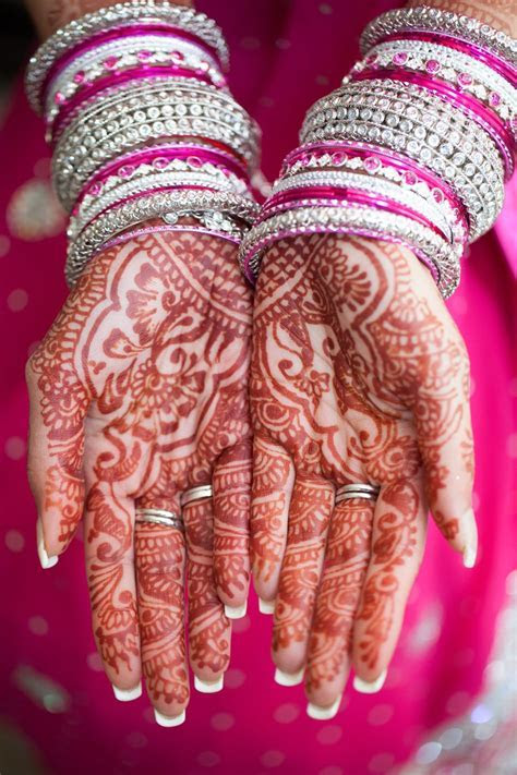 Before a hindu wedding the paint the brides hands with