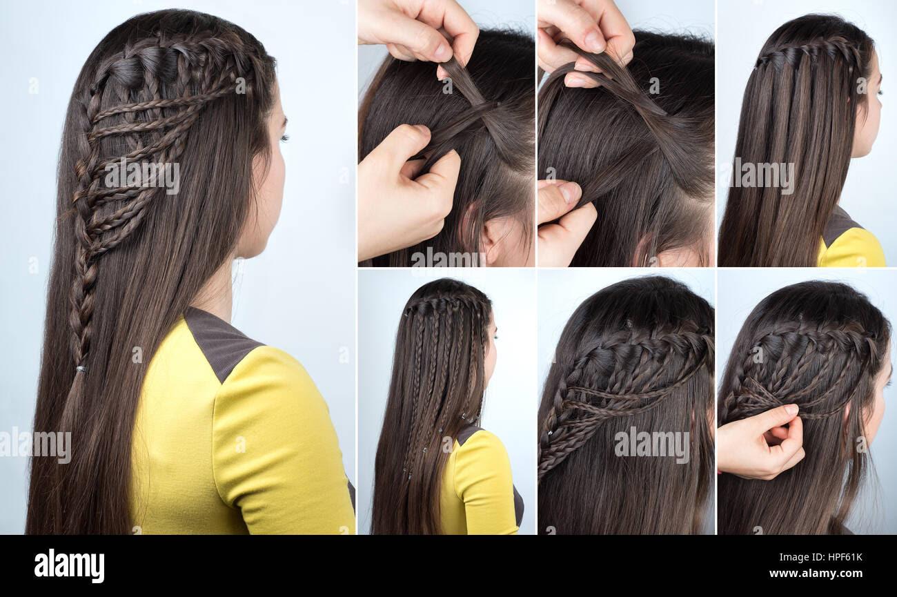 Frisur Flechten Wasserfall Mit Offenen Haaren Frisur Tutorial Für