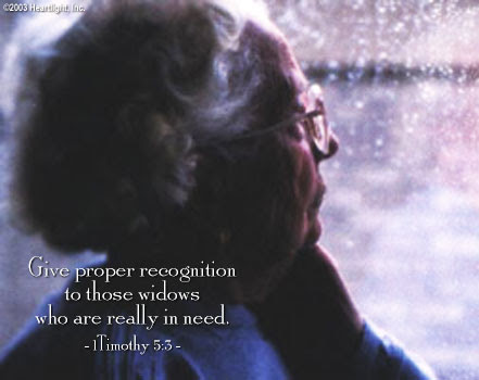 Inspirational illustration of 1 Timothy 5:3