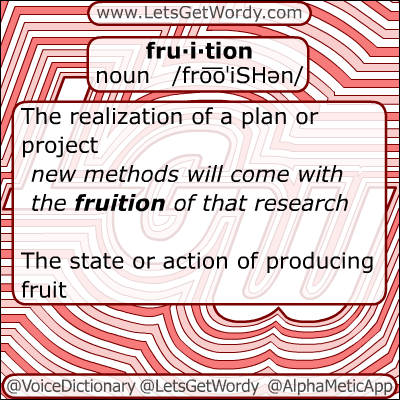 Fruition 11/29/2012 GFX Definition of the Day