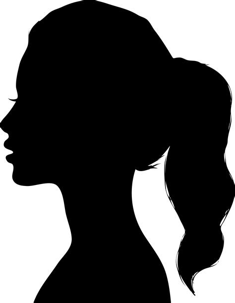 girls face silhouette clipart images gallery